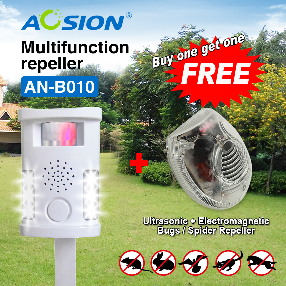 Buy Aosion High Quality Animal Repeller Ultrasonic Pest Reject Pigeon Cat Dog Bat Bird Repellent