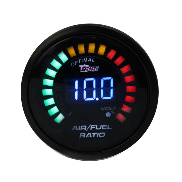 Air Fuel gauge 2inch 52mm Electrical car Meter Digital Wideband Brand Smok Air Fuel Ratio Auto gauge/tachometer YC100099