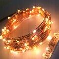 Remoto Dimmer 20 M 200 Leds Fio de Cobre LED String Luz com Adaptador De Energia DC 6 V 1A Luz Cordas Xmas Casamento decoração