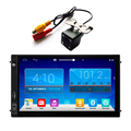 FREE Car Camera Android 4.4 Quad Core Universal 2DIN Car Stereo GPS Navigation Wifi Radio Bluetooth USB/SD Player  CT0007