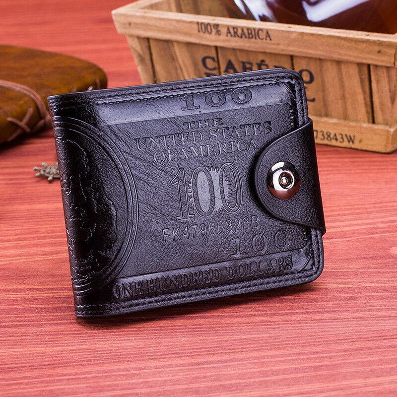 Wallet Men Cool Handsome Mens Leather Bifold Wallet Slim Small Wallets Luxury Brand Wonderful Men's Wallets Hot Popular