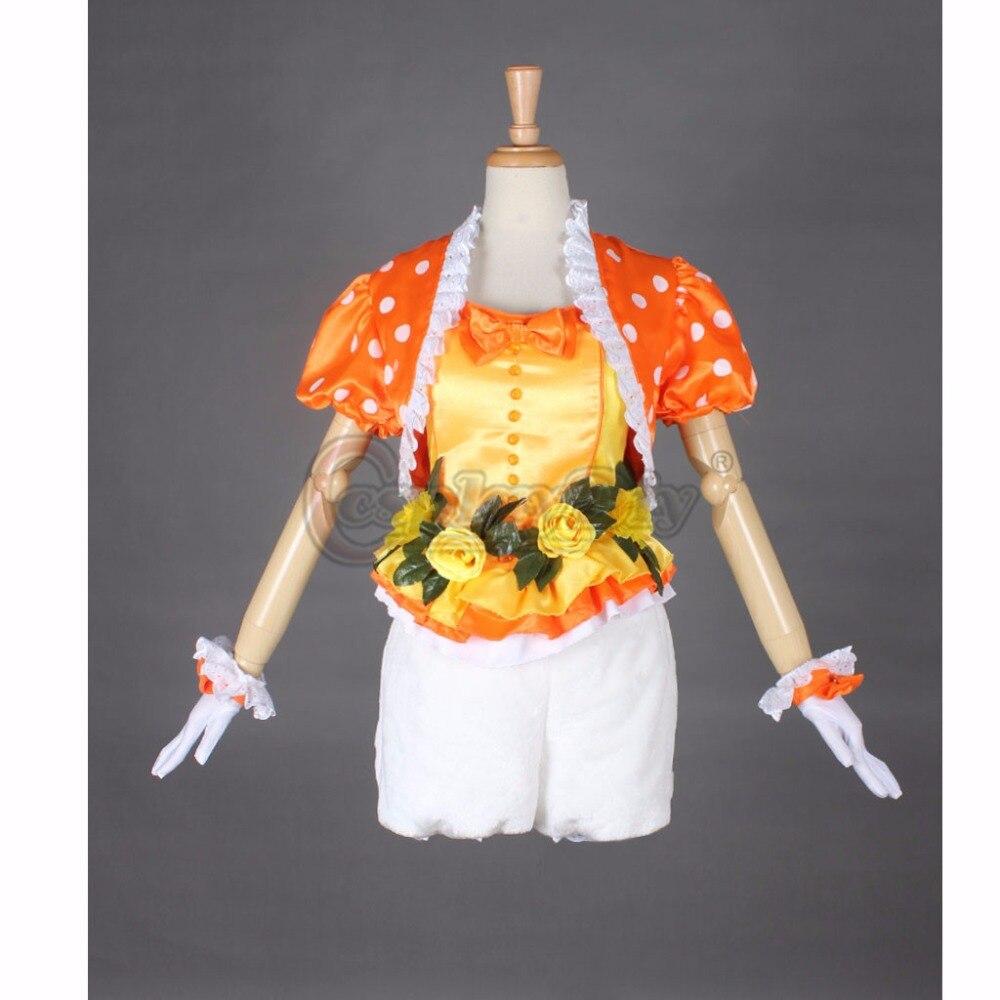 Cosplaydiy Jaune Lapin Adulte Femme Halloween Carnaval Cosplay top shorts Chapeau Fait Sur Commande - 2
