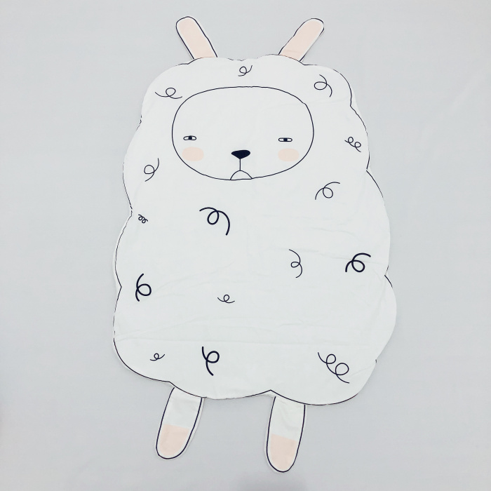 95 см детская игра коврики круглый коврик, мат хлопок Лебедь Ползания одеяло пол ковер для детской комнаты украшения INS подарки для малышей - Цвет: Sheep100x74cm