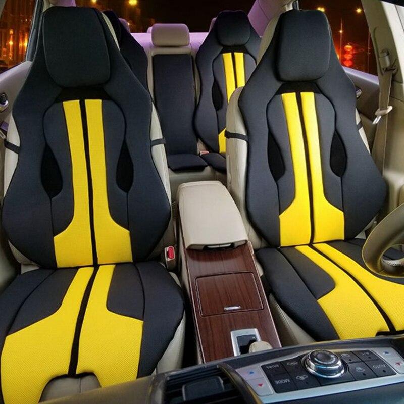 Housse de siège de voiture coussin doux rouge blanc jaune pour Ferrari Mercedes BMW Audi sport mode individualité intérieur accessoires