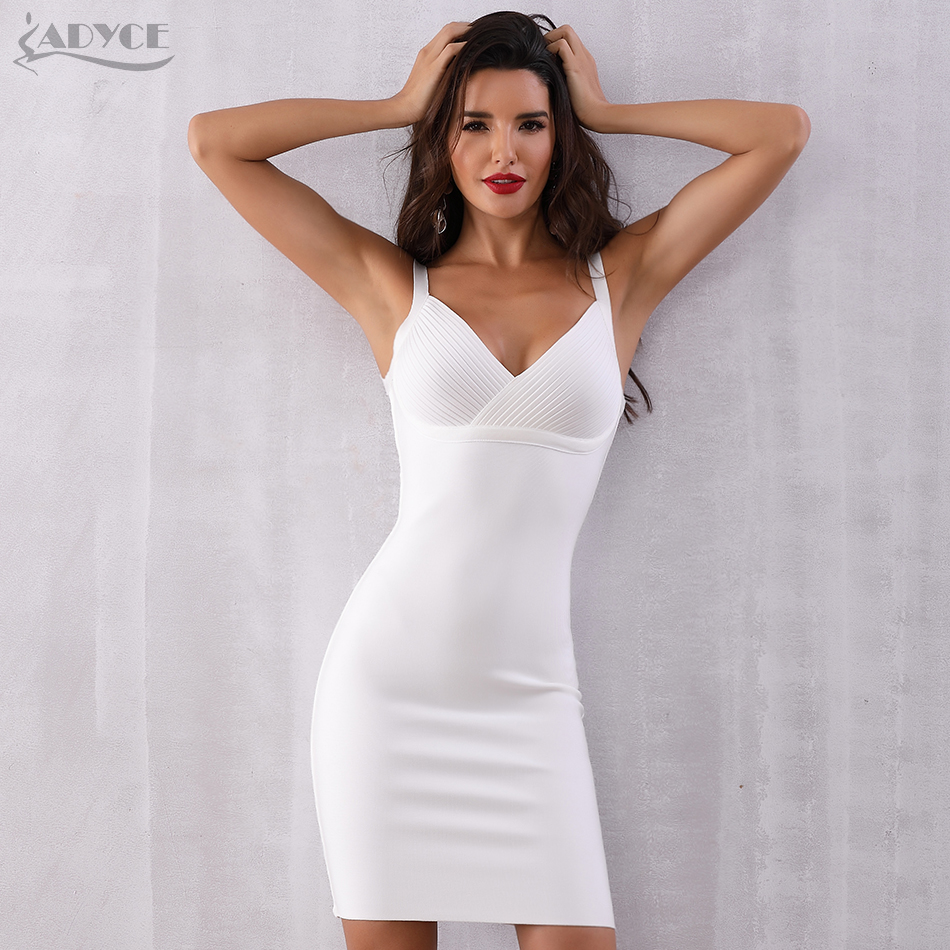 Adyce Summer Bandage Dress Women 2020 New Spaghetti Strap Sleeveless Bodycon Club Dresses Celebrity Evening Party Dress Vestidos