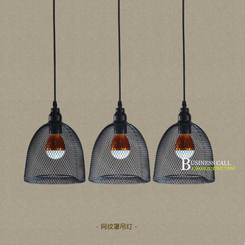 Barra americana retro personalidad creativa loft cafe lámparas de iluminación para restaurante, lámpara de hierro forjado carril industria GY149
