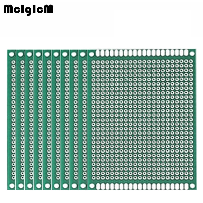 MCIGICM 100pcs Double Side Prototype PCB diy Universal Printed Circuit Board 5x7cm