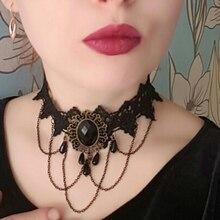 2018 Fashion Gothic Choker Necklace Vintage Tattoo Tassel Punk Style Lace Pendant Wedding Jewelry Women False Collar Statement