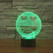 Novelty 3D Decor Bulbing Novelty Lighting Q-smile Face Q Cute LED Lighting Gadget Home Table Lamp for Child Gift Dropship