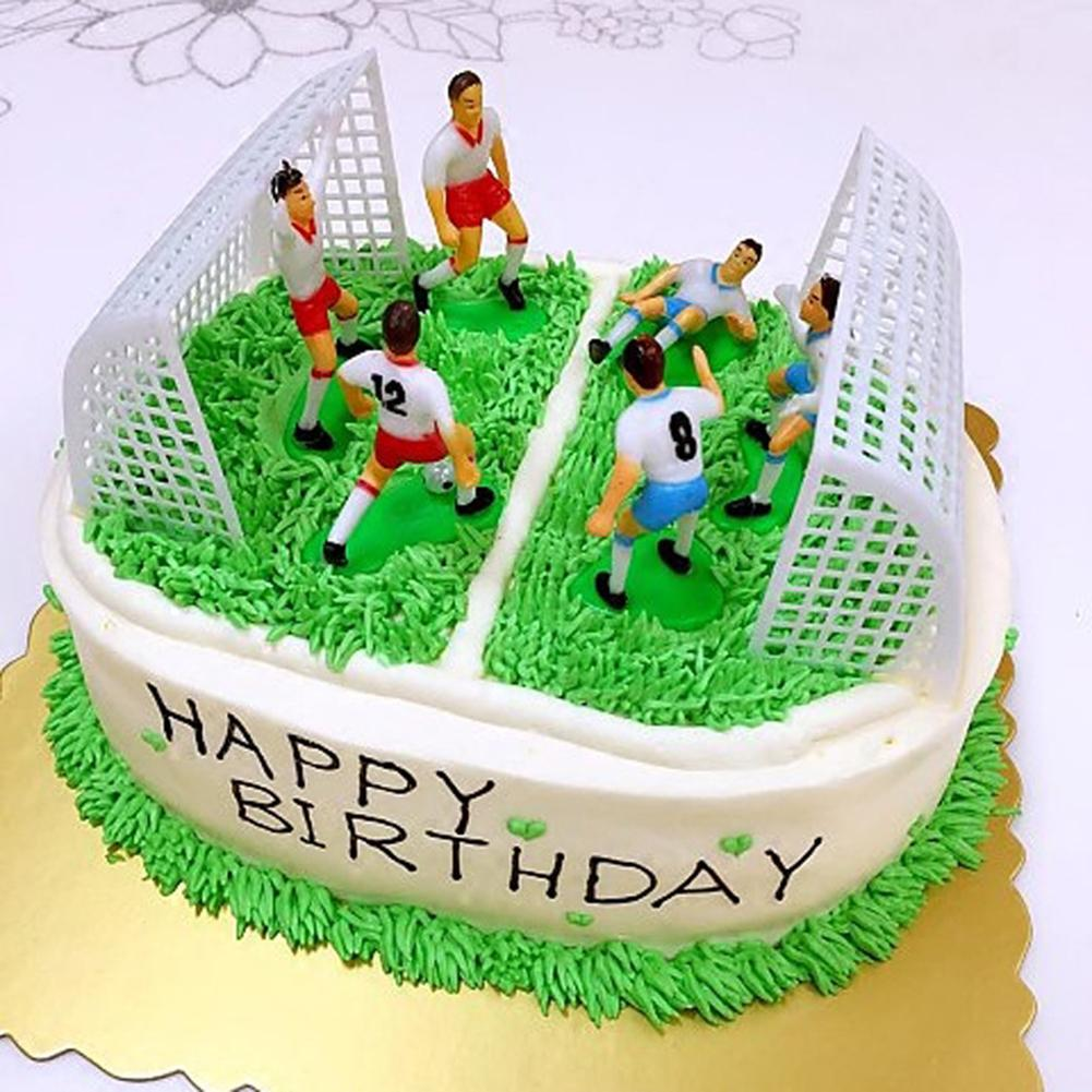 Magnificent 8 Pcs Football Game Cake Topper Birthday Cake Kids Doll Toy Home Funny Birthday Cards Online Eattedamsfinfo