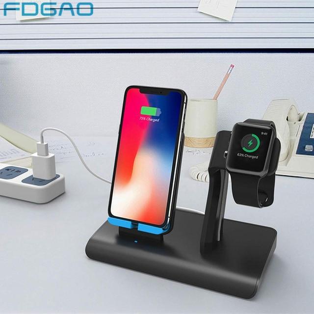 39a0d25b4e9 FDGAO Qi cargador inalámbrico 10 W para iPhone XS Max XR 8X8 Samsung S9 S8  Usb