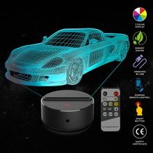 цена New Sports car 3D LED Night Lamp 7 Colors USB Hologram Decor Lamp Table Desk Lights Birthday Party Gift For Children Friends онлайн в 2017 году
