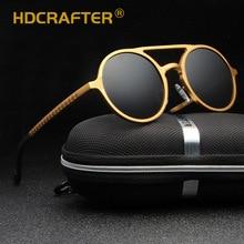 HDCRAFTER Ronde Zonnebril Vrouwen Mannen Golden Gepolariseerde UV400 Rijden Zonnebril Mannelijke Goggle Eyewear 2018 oculos de sol