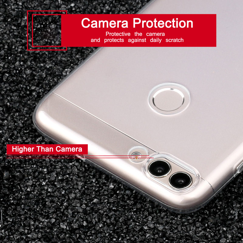 GodGift Huawei P Smart Case 5.65 inch Luxury Huawei PSmart Transparent Shockproof Silicone Cover For Huawei P Smart Phone Cases