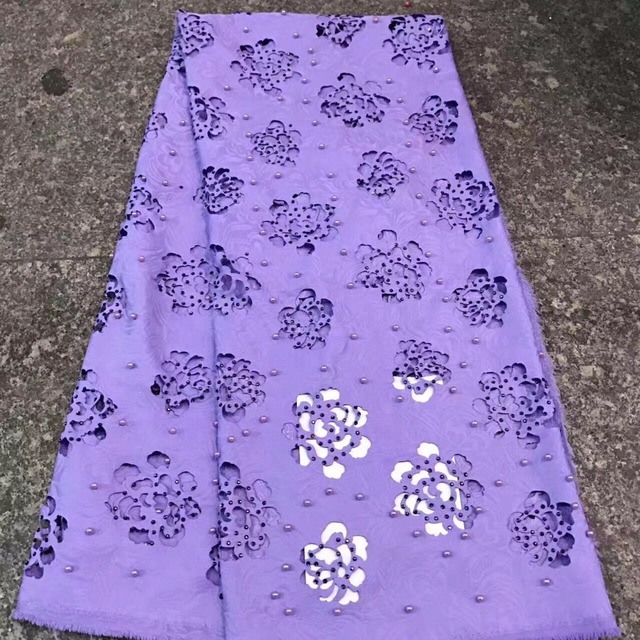 purple laser cutting fabrics heavy beaded lace fabric beautiful ...