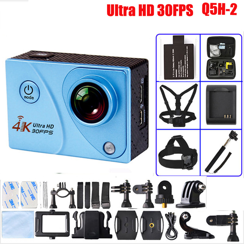 ФОТО  Ultra HD Action Camera 4k 30fps 1080P 16MP Underwater  Finder Video Camera Go Pro Wireless Sports Camera Q5H-2