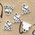 25 шт амулеты I Love Dogs 13x12 мм Ручная работа ремесло кулон изготовление fit, винтажный Тибетский Бронзовый Серебряный цвет, сделай сам для браслет...
