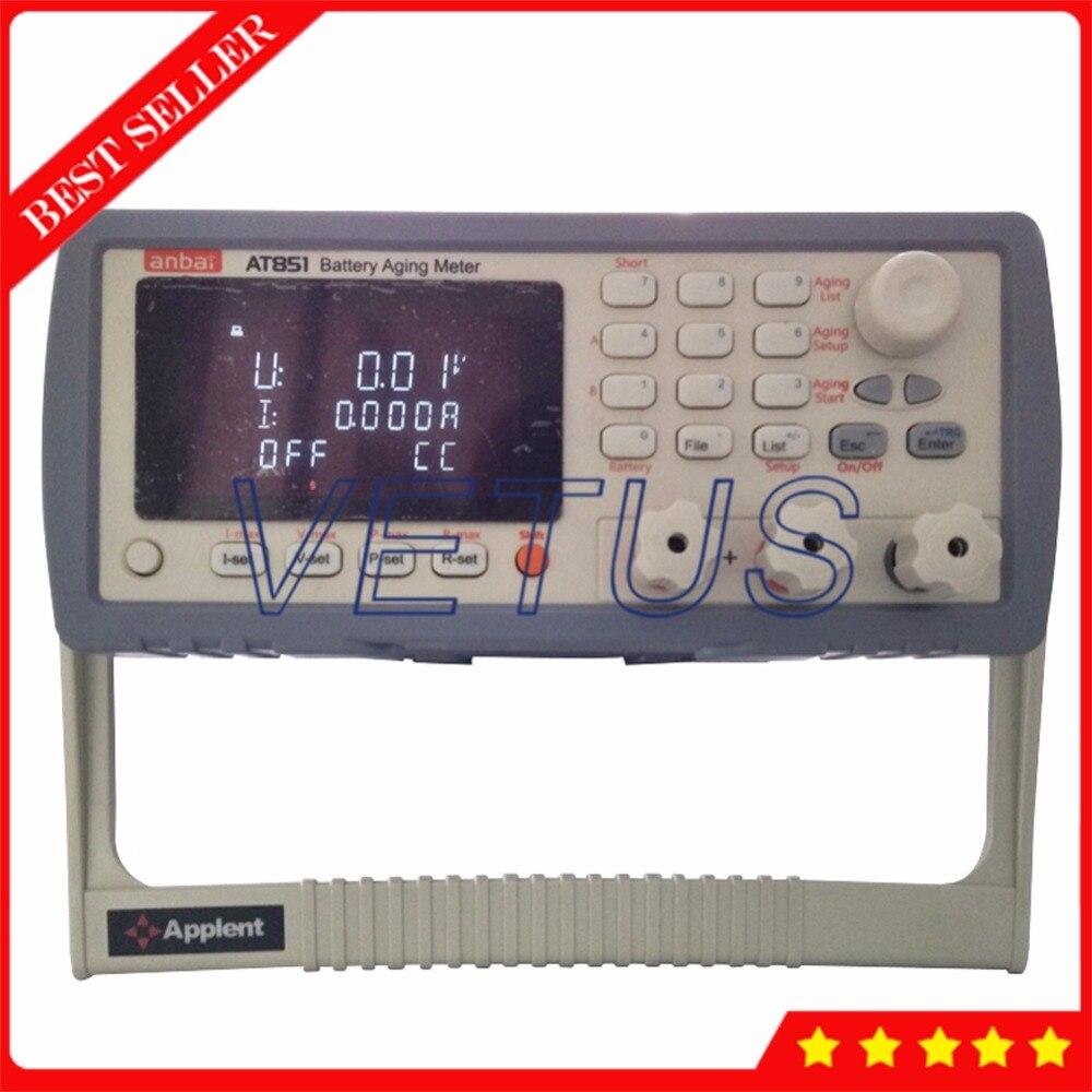 Analyseur numérique de capacité de batterie avec Interface RS232C/USB/gestionnaire AT851 détecteur de batterie au lithium