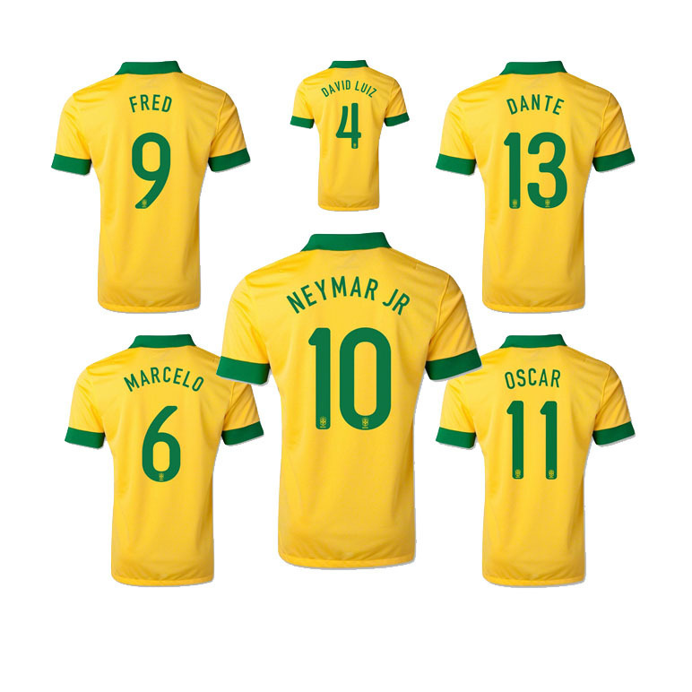 12e1949ad neymar jr brazil 2016 womens home jersey  free shipping top a brazil home  fans jersey soccer jerseys football jerseys neymar 10 fred 9