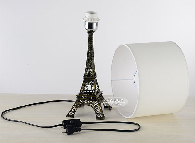 Aliexpress.com : Buy Eiffel Tower White Fabric Metal modern ...