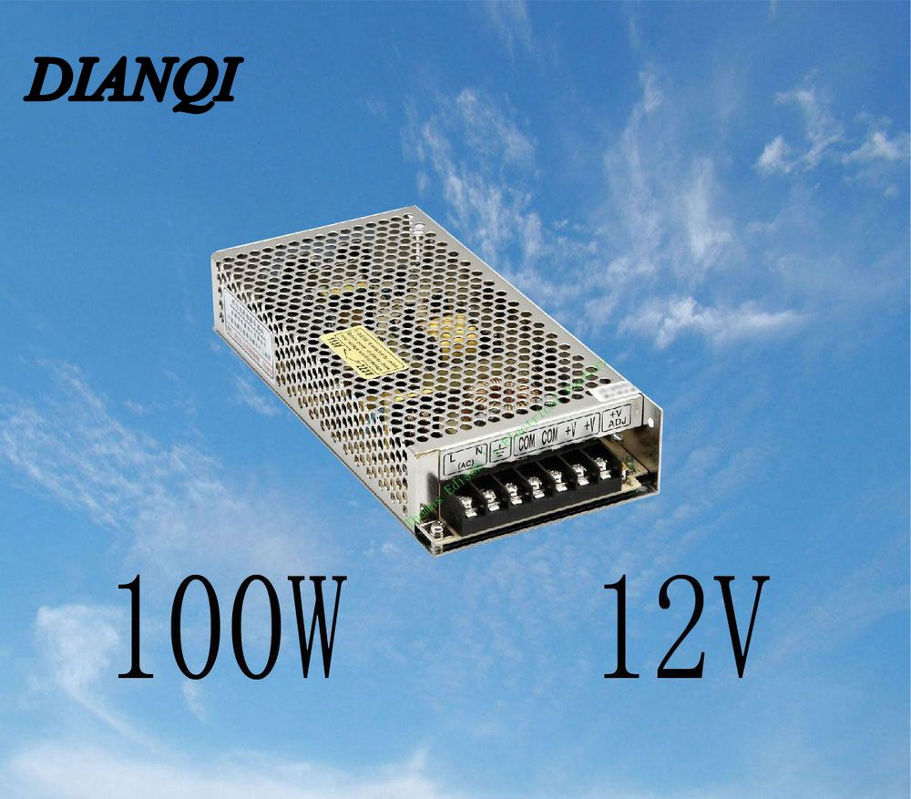 S-100-12 led power supply switch 100W 12v 8.5A ac dc converter  power supply unit S-100w  12v variable dc voltage regulator spe 100w 12v 100w 8 3a led power supply converter black