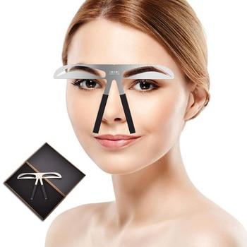 Microblading Eyebrow Balance Ruler Metal Tattoo Shaping Stencil Permanent Makeup Caliper Eyebrow Ruler makeup essential eyebrow shaping razor