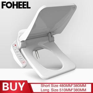 Image 1 - FOHEEL kare akıllı tuvalet oturağı kapağı elektronik bide klozet koltuk ısıtma temiz kuru akıllı tuvalet kapağı banyo için
