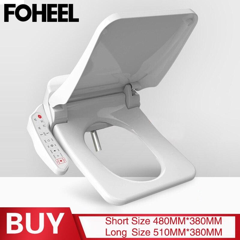 Foheel quadrado inteligente tampa de assento do toalete bidé eletrônico tigelas assento aquecimento limpo seco inteligente tampa do toalete para banheiro