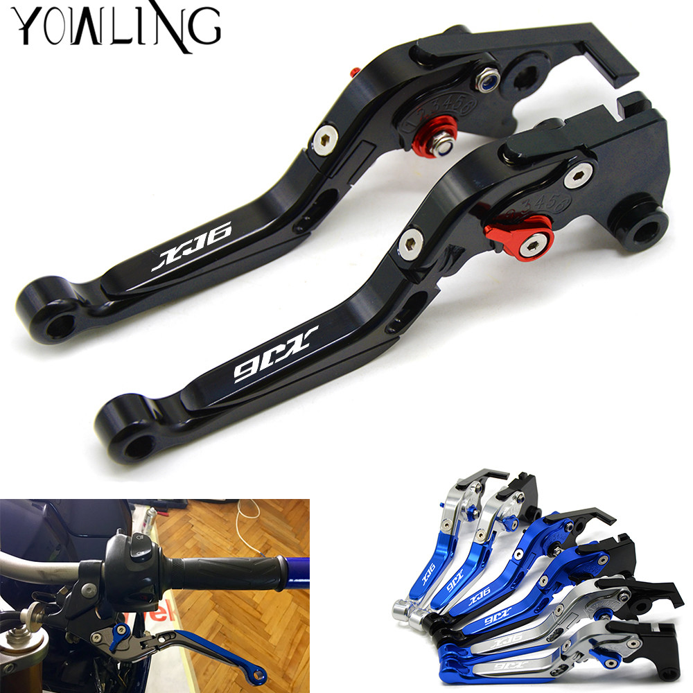 For YAMAHA XJ6 DIVERSION 2009-2015 2010 2011 2012 2013 2014 CNC Adjustable Motorcycle Brake Clutch Levers Brake Levers Handle motorcycle adjustable cnc aluminum brakes clutch levers set motorbike brake for yamaha fz1 fazer 2006 2013 xj6 diversion 09 15