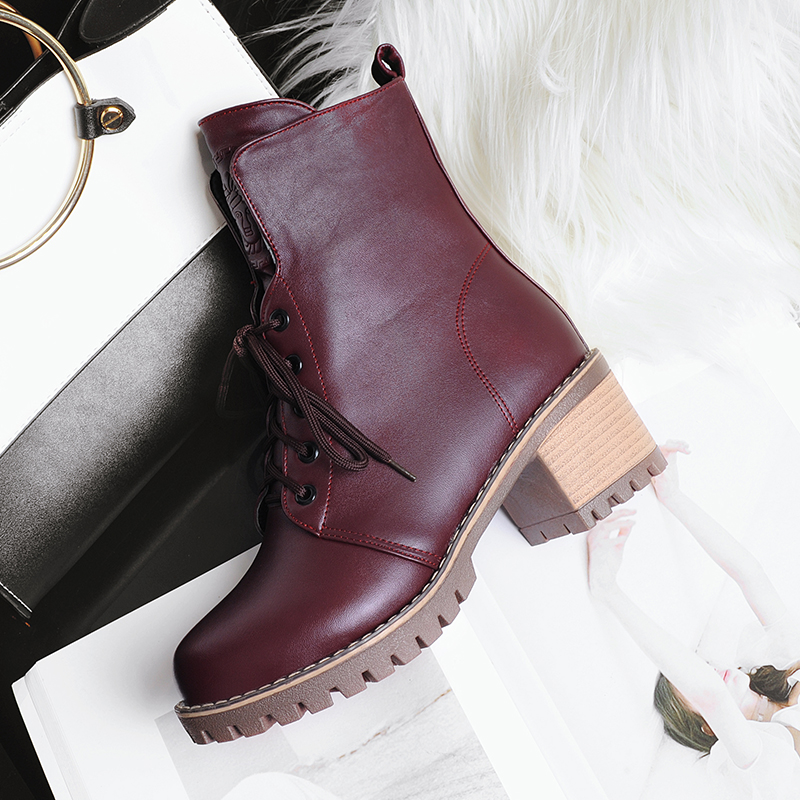 Women boots Doc Martens 2018 Vintage british genuine classic boots Martin  thick boots motorcycle heel Boot Feminina-in Ankle Boots from Shoes on ... 8aed902eff2e
