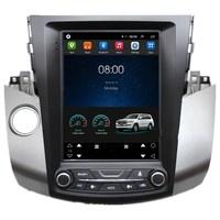 10.4 Tesla Vertical Screen Android Car Radio Audio Sat Nav Head Unit for Toyota RAV4 RAV 4 2006 2007 2008 2009 2010 2011 2012