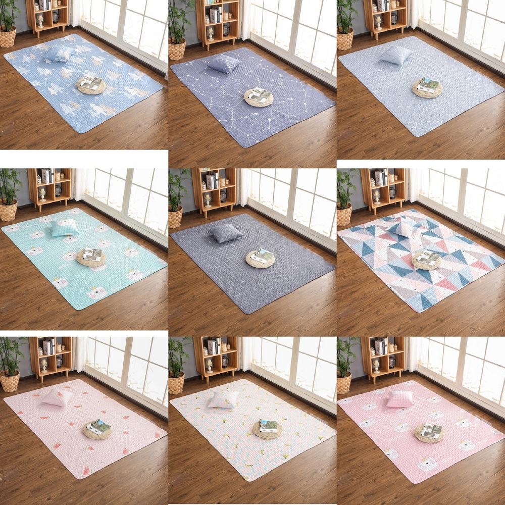 Nordic Style Multi-functional Baby Play Mats Cotton Blanket Pad Home Decoration Carpet Rug Kids Bed Room Decor Photo Props