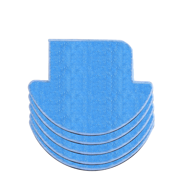 5pcs/lot robot Vacuum Cleaner Mop Cloths for ILIFE V7S pro v7s Replacement Mop Cleaning cloths Robot Vacuum Cleaner parts 12pcs lot high quality robot vacuum cleaner wet mop hobot168 188 window clean mop cloth weeper vacuum cleaner parts