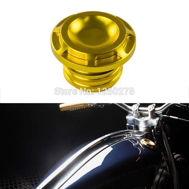 Мотоцикла золото ЧПУ Латунь ПАЗ топливного бака газовой шапки для Harley Спортстер XL883 XL1200 1996-2015