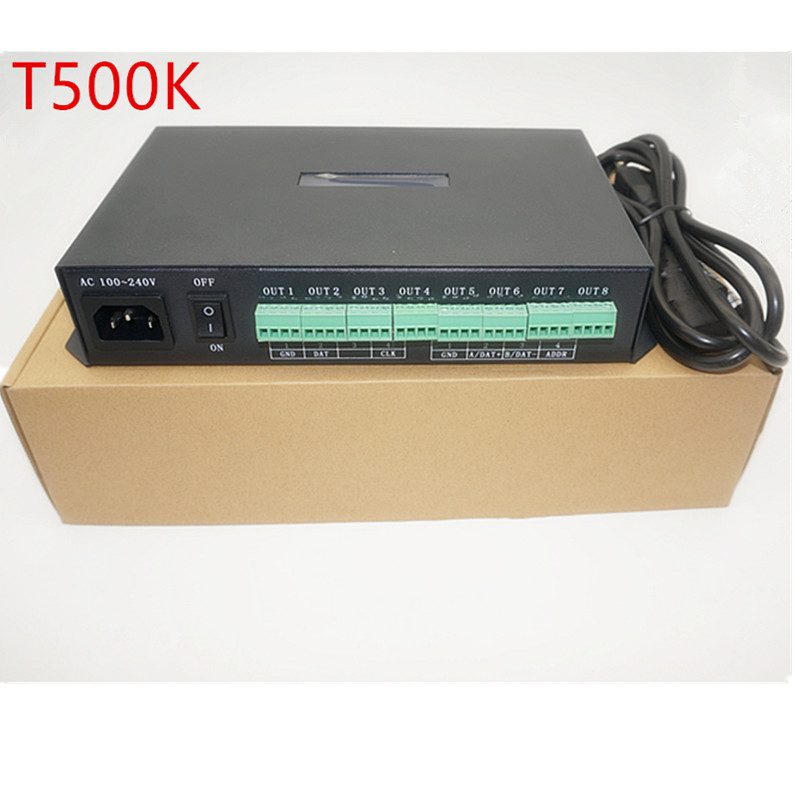T-500K controller Computer online WS2801 WS2811 6812  8806 APA102 led pixel module controller 8ports support up to 300000 pixels t 500k controller computer online ws2801 ws2811 6812 8806 apa102 led pixel module controller 8ports support up to 300000 pixels