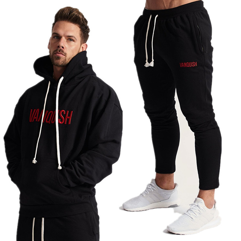 Autumn Sport Swimsuit Exercise Males Clothes Set Health club Sportwear Tracksuit Health Physique Constructing Mens Hoodies+Pants Swimsuit Jogger Males Set