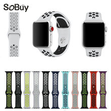 So buy S1 sport Silicone band strap for apple watch nike 42mm 38mm bracelet wrist band watch S2 watchband For iwatch strap 3/2/1(China)