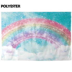 Image 3 - Allenjoy ภาพพื้นหลัง glitter rainbow sky cloud unicorn ฉากหลัง photocall photobooth ถ่ายภาพ prop studio ผ้า