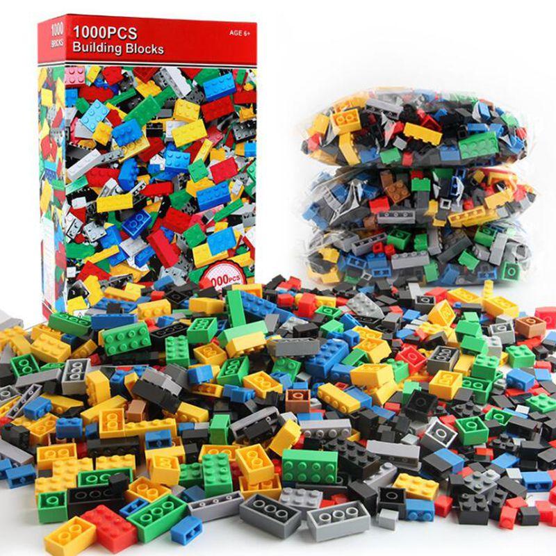 1000pcs/set Kids' Toys Building Blocks Children Construction Toys Small particle assembly puzzle Clicking Blocks стоимость