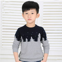 Children's clothing male baby upset render unlined upper garment sweater knit boy