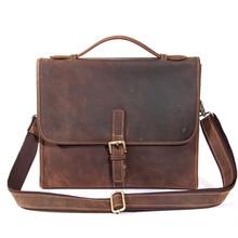 Messenger bag vintage shoulder crossbody bags for man laptop bag leather Designer genuine leather handbags high quality