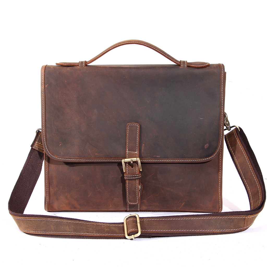Messenger bag vintage shoulder crossbody bags for man laptop bag leather Designer genuine leather handbags high quality подставки кухонные мультидом подставка