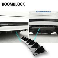 BOOMBLOCK Car Rear Bumper 3D Cool Shark Stickers For VW Polo Golf 4 5 Passat Hyundai Tucson Solaris Ix35 Mitsubishi ASX