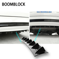 BOOMBLOCK Car Rear Bumper 3D Cool Shark Stickers For VW Polo Golf 4 5 Passat Hyundai Tucson Solaris Ix35 Mitsubishi ASX