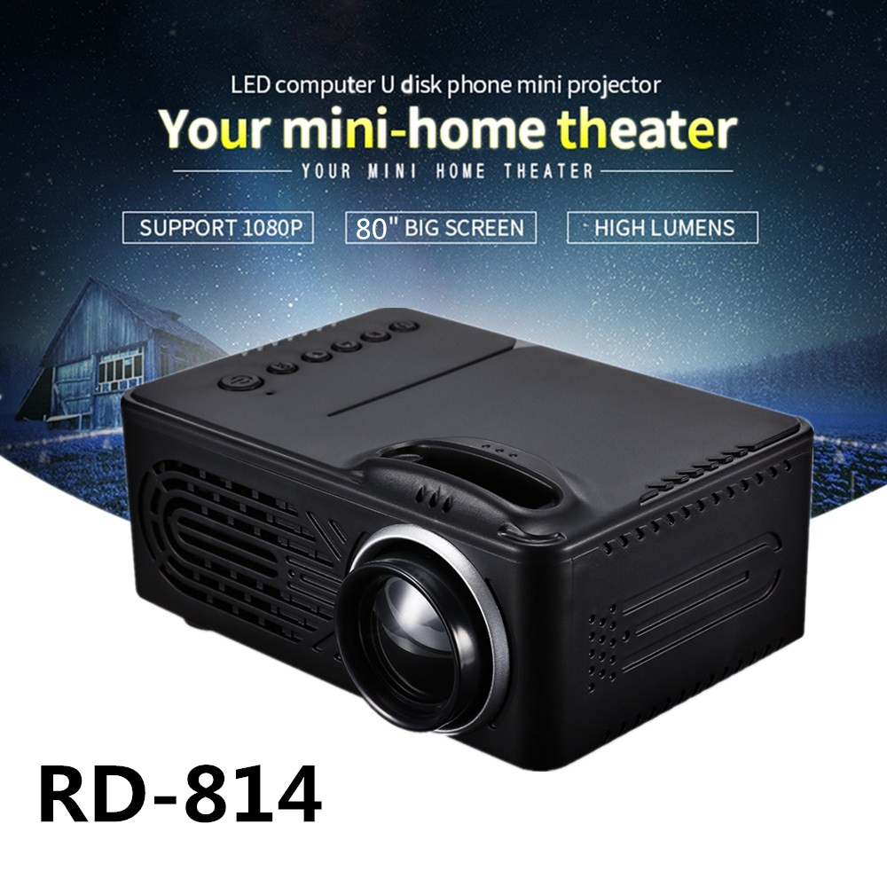 RD-814 LED Mini Projector Projector 320 x 240 Portable Projector 1080P for Photo Music Movie Home Theater Proyector PK YG300 цены онлайн