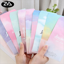 5pcs/lot Watercolor gradient envelope letterhead office stationery writing paper kawaii birthday envelopes gift