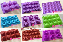 Wholesale,free shipping,1 pcs Silicone cake mould soap mold ice cube tray donuts baking tools round hole oval cylinder series цена 2017