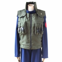 Anime Naruto Hatake Kakashi Cosplay Costume Vest Top+Pants For Adult Women Men Unisex New Free Shipping S/M/L/XL/XXL