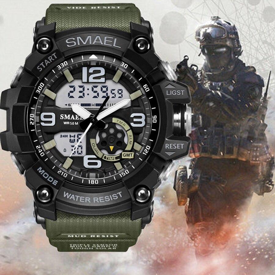 Top Marque Smael Militaire G Style Choc Hommes Montre Numérique Nouvelle Électronique Sport Montre Étanche Mâle Horloge LED Relogio Masculino