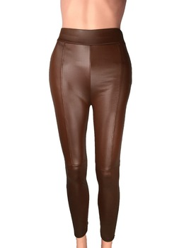 Big Sale ! 2014 New Trend Knitting women's Nine minutes pants Fashion sexy Imitation leather slim PU elastic leggings 2 Colors 8